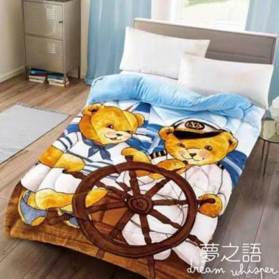 夢之語 正版授權泰迪熊 法蘭絨暖暖被 155x200cm【船長泰迪】可水洗