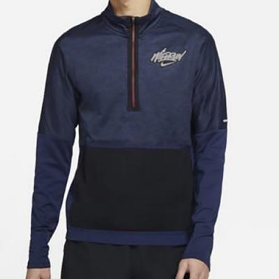 Nike Element Wild Run 男長袖上衣-藍黑-DA0224410