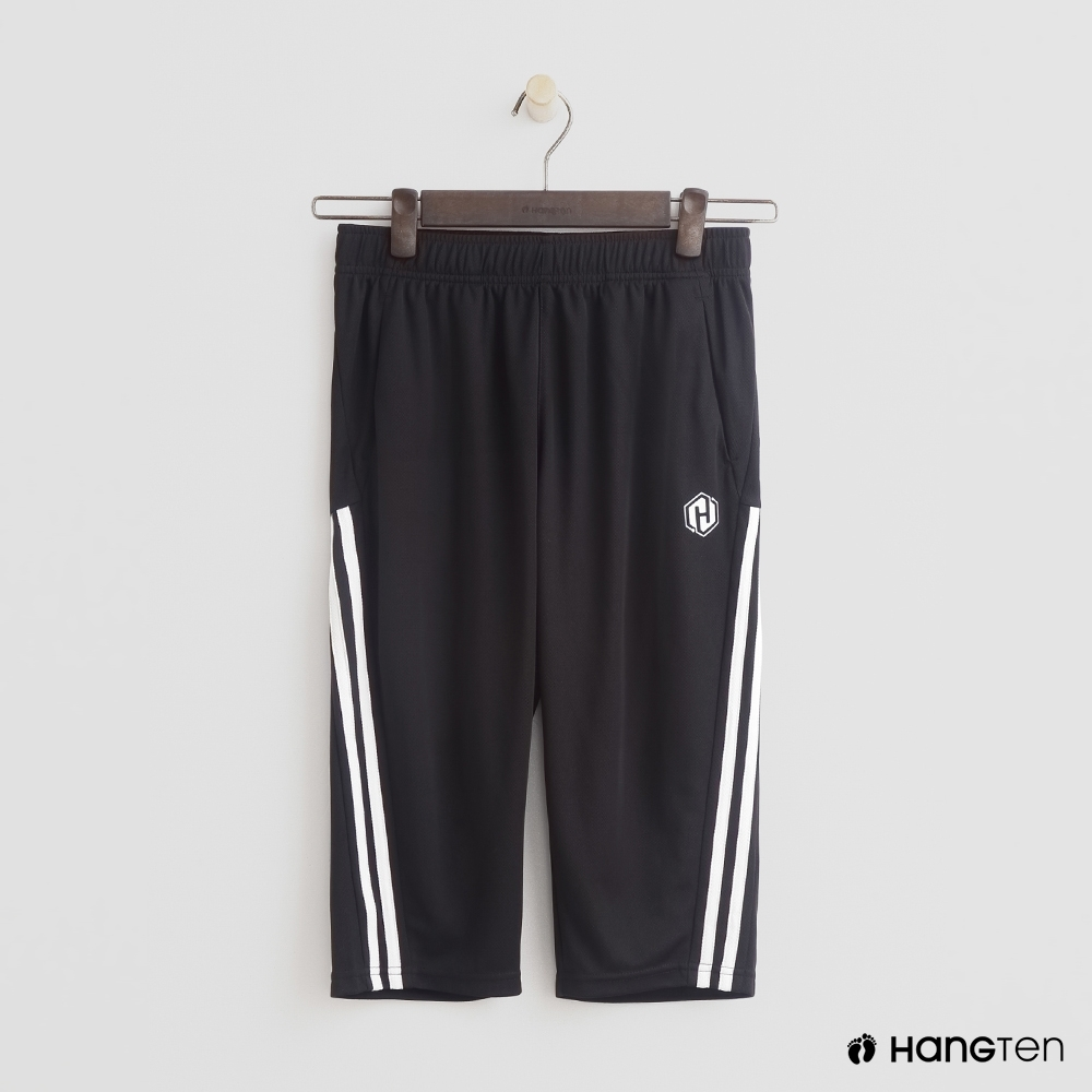 Hang Ten- 青少童裝-修邊舒適長褲-黑