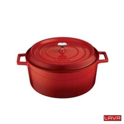 [LAVA] 寶寶鑄鐵鍋附蓋-尊爵紅(12cm)