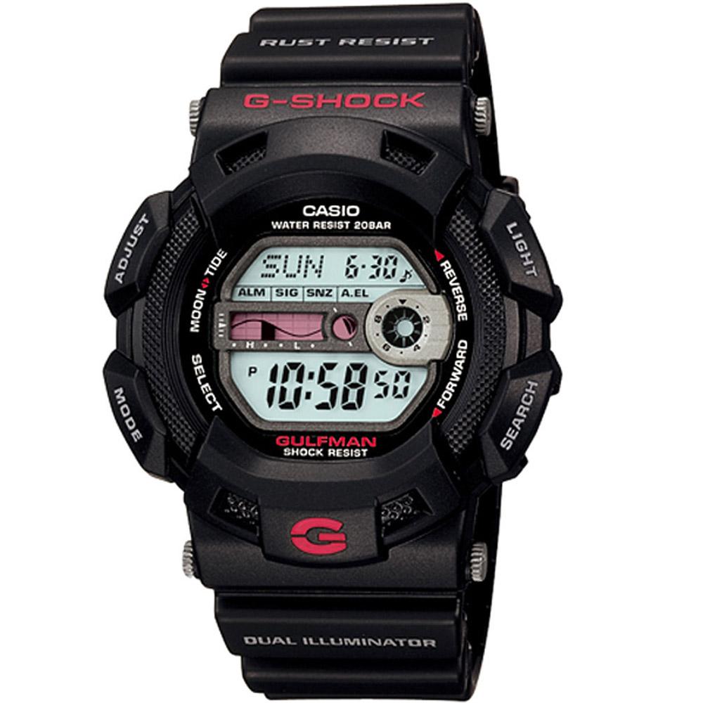 G-SHOCK GULFMAN系列海灘型男專屬運動錶(G-9100-1)-黑/46mm