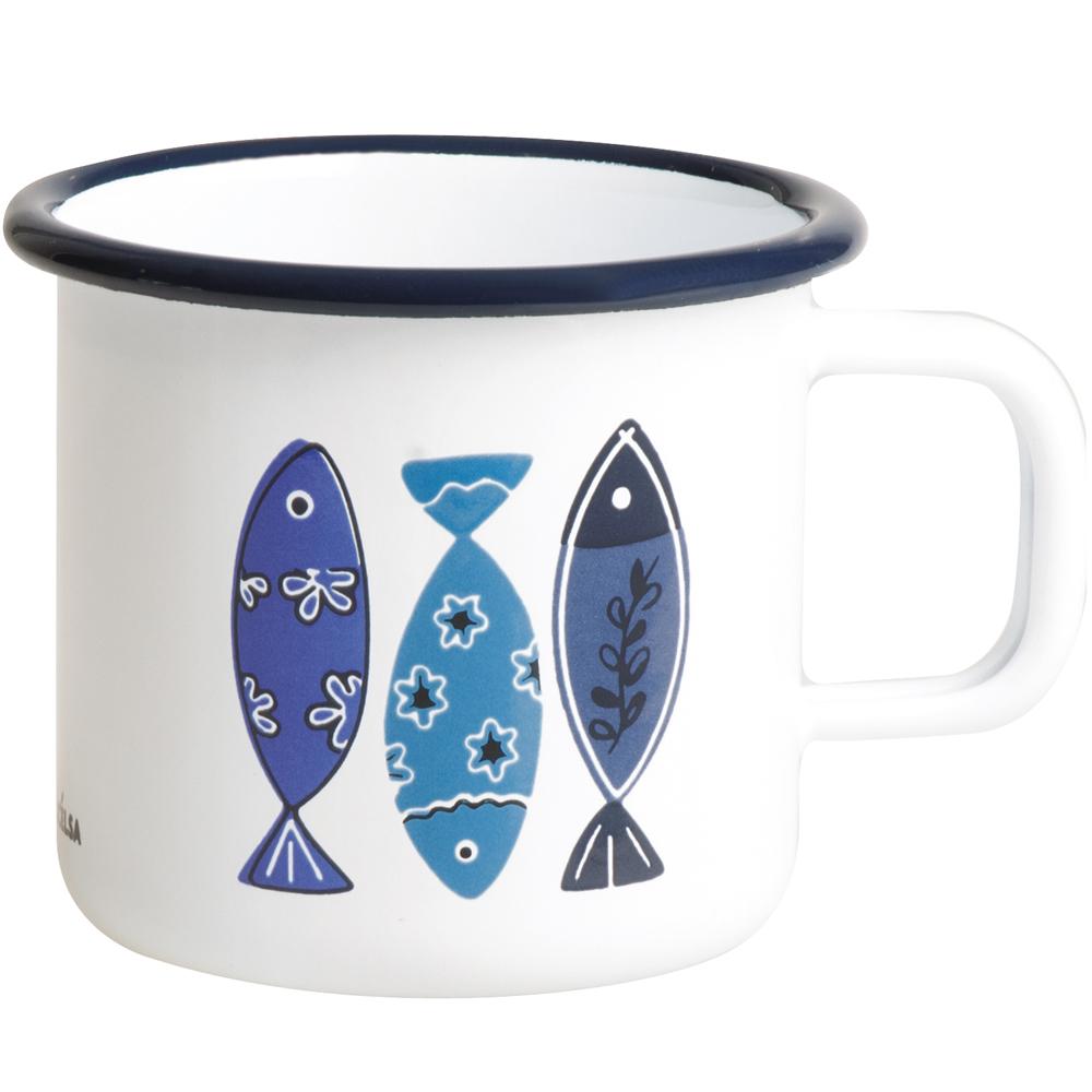 《EXCELSA》單柄琺瑯杯(魚325ml)