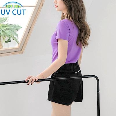 台灣製造.抗UV吸濕排汗腰抽繩運動短褲-OB大尺碼