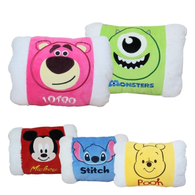 【收納皇后】熊抱哥/大眼怪/米奇/維尼/史迪奇暖手寶 保暖靠枕