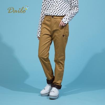 【Dailo】厚棉保暖舒適-長褲(二色)