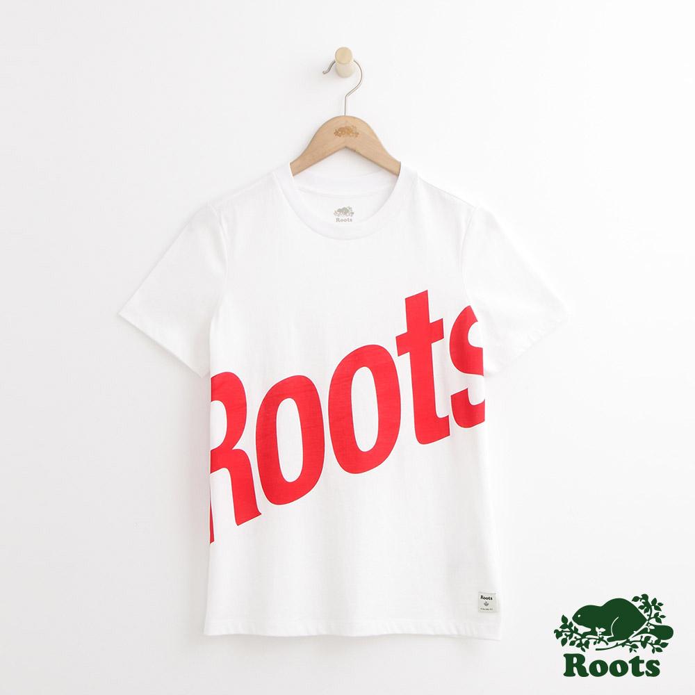 Roots -女裝- 卡麥隆短袖T恤 - 白