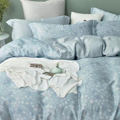LAMINA 若柔(藍) 加大100%天絲四件式兩用被套床包組