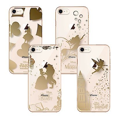 iPhone 8/7 迪士尼 PC/透明金箔 手機硬殼 4.7吋