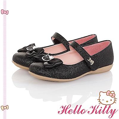 HelloKitty童鞋 傳統手工鞋蝴蝶結減壓包鞋-黑