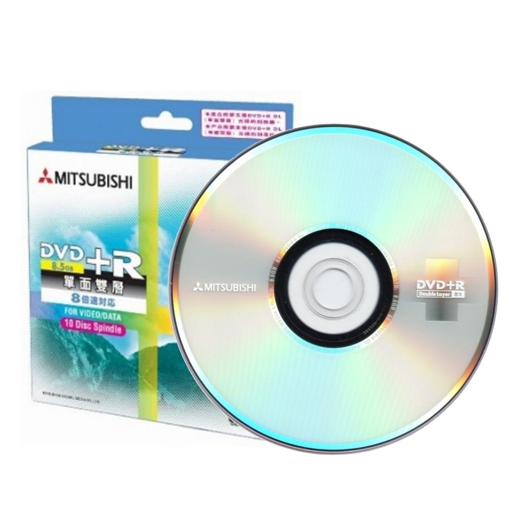 三菱 空白光碟片 8X DVD+R 8.5GB 單面雙層 DL 光碟燒錄片(10片)