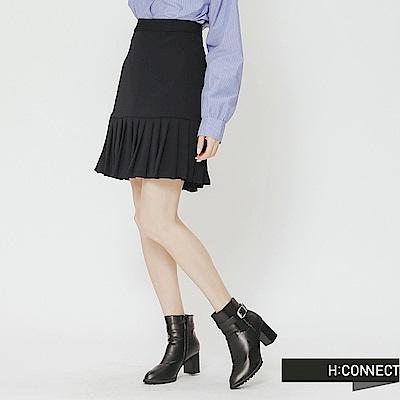H:CONNECT 韓國品牌 女裝-魚尾百褶短裙-藍