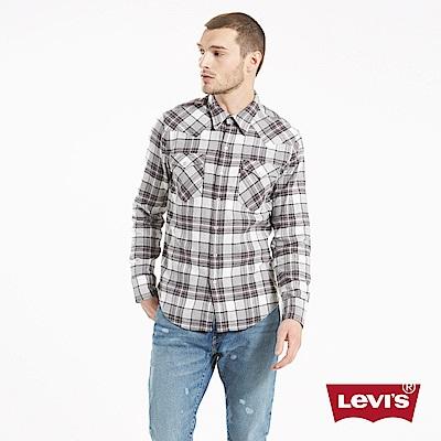Levis 格紋襯衫 男裝 雙口袋 珍珠扣