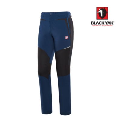 【BLACKYAK】男立體剪裁彈性透氣長褲[灰藍色]