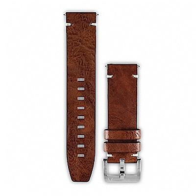 GARMIN fenix Chronos 原廠復古皮錶帶