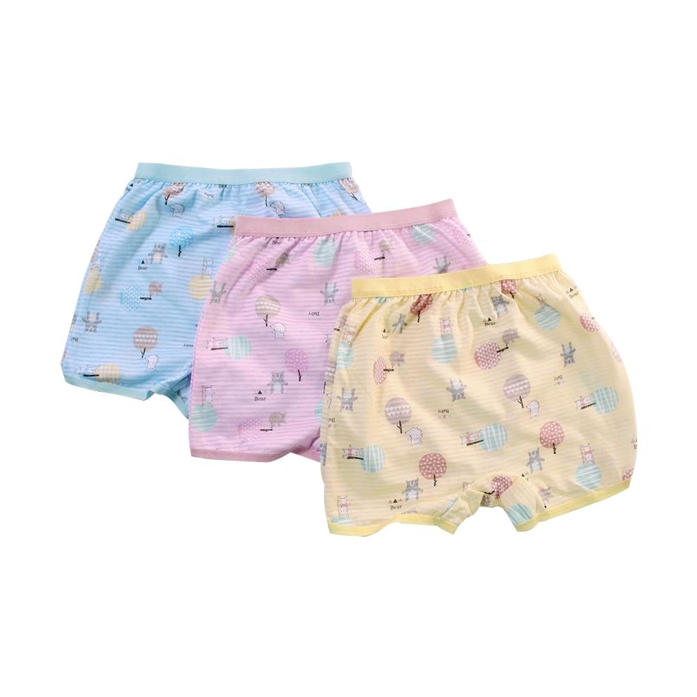 魔法Baby女童台灣製純棉透氣四角內褲(4件一組) k51396