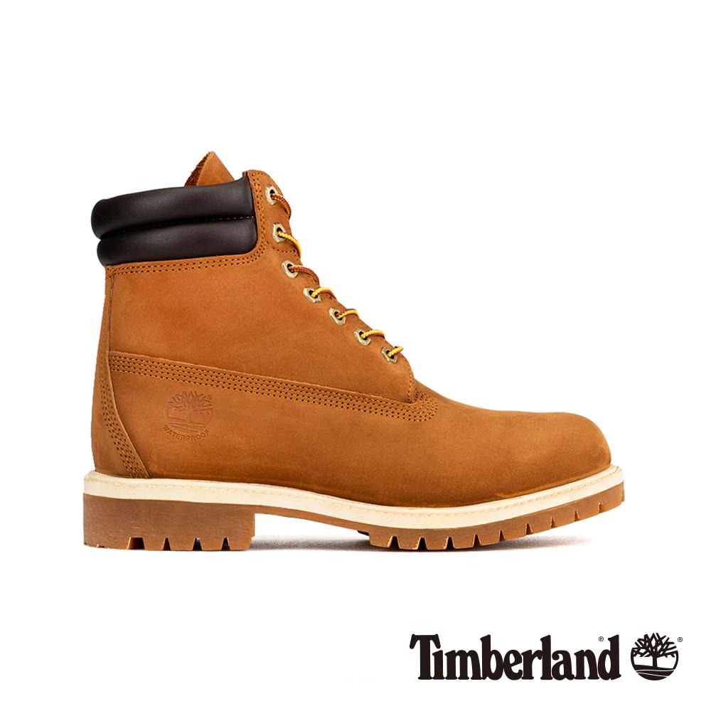 Timberland 男款麥褐色磨砂革經典雙領6吋靴|73542