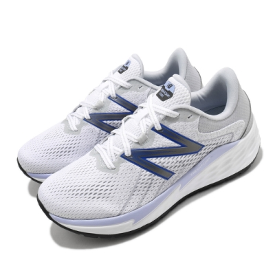 New Balance 慢跑鞋 Fresh Foam 寬楦 運動 女鞋 紐巴倫 輕量 透氣 舒適 避震 路跑 白 藍 WVARECP1D