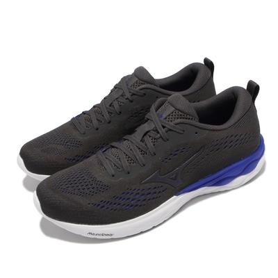 Mizuno 慢跑鞋 Wave Revolt 2 運動休閒 男鞋 美津濃 路跑 緩震 透氣 基本款 黑 藍 J1GC2181-90