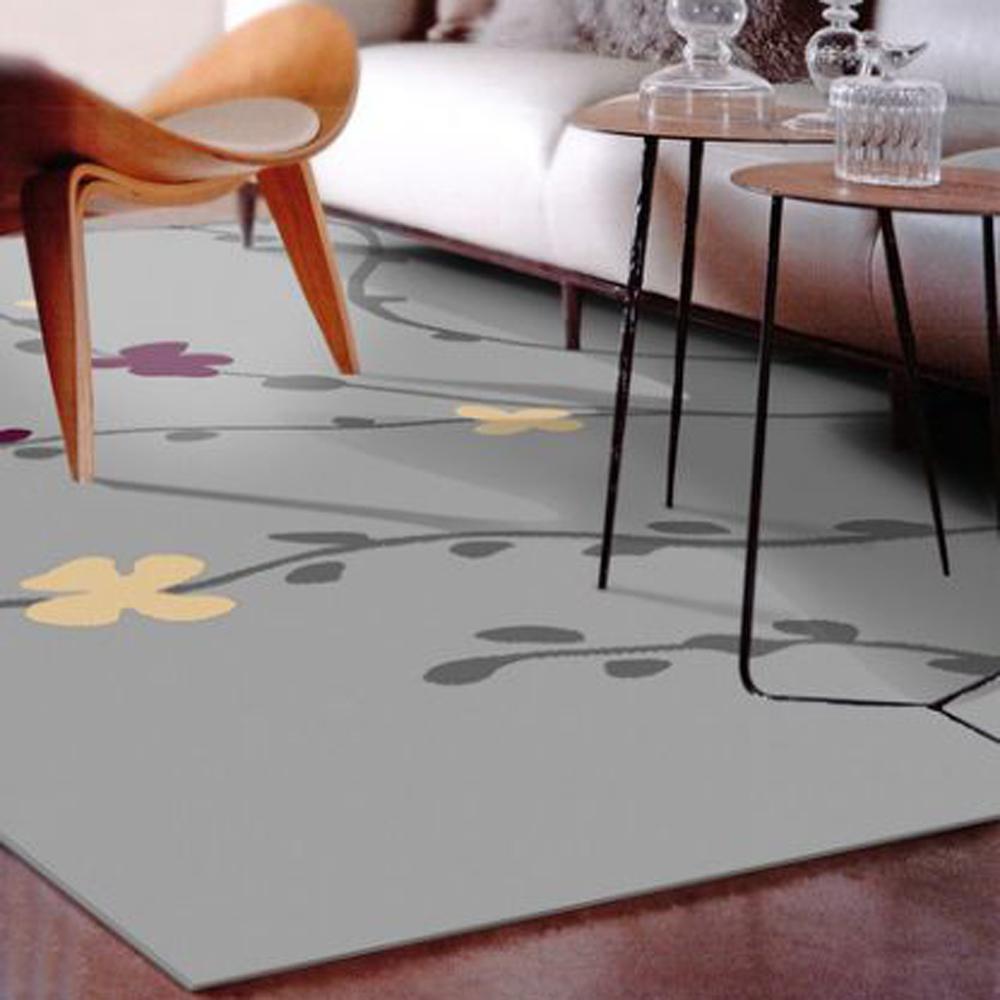 范登伯格 - 香榭 進口仿羊毛地毯 - 梅花 (灰 - 200 x 290cm)