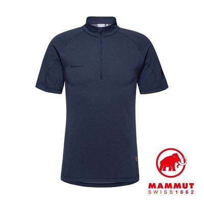 【Mammut】Aegility Half Zip T-Shirt Men 立領半拉鍊短袖排汗衣 海洋藍 #1017-01830