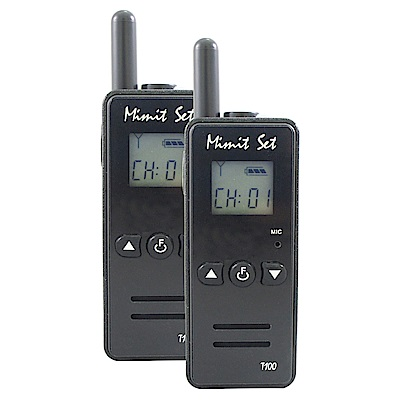 MinitSet T100 黑色 迷你 無線電對講機 2入
