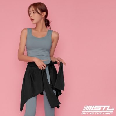 STL yoga 韓國瑜珈 HIP COVER 運動機能一片式綁帶外罩裙 黑Black
