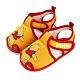 迪士尼童鞋 小熊維尼 經典造型護趾嗶嗶涼鞋-黃(柏睿鞋業) product thumbnail 1
