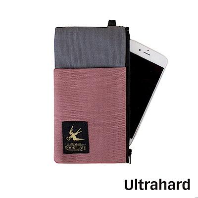 Ultrahard 藏書票手機袋-燕子(灰粉)