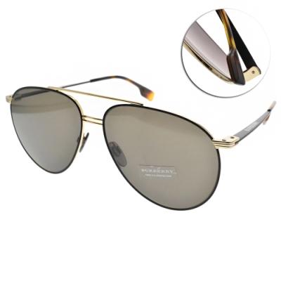 BURBERRY太陽眼鏡 復古飛官款/ 黑金-灰 #B3108 12933