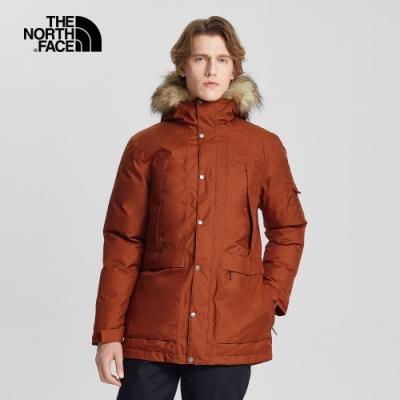The North Face北面男款磚紅色防水透氣羽絨外套|4NBGUBC