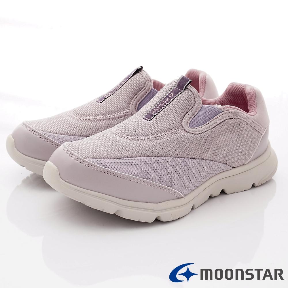 日本Moonstar戶外健走鞋-3E抗菌機能款-ON631紫(女段)