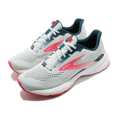 Brooks 慢跑鞋 Launch 8 運動 女鞋 路跑 緩震 DNA科技 透氣 健身 球鞋 灰 粉 1203451B110
