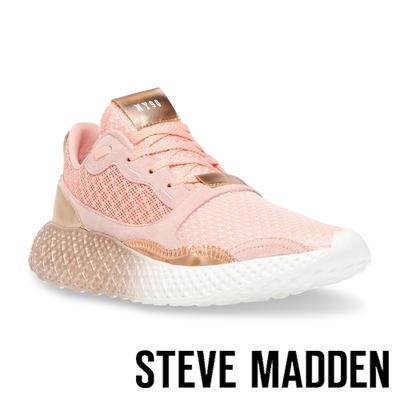 STEVE MADDEN-RAMP 拚色透氣增高運動休閒女鞋-粉色
