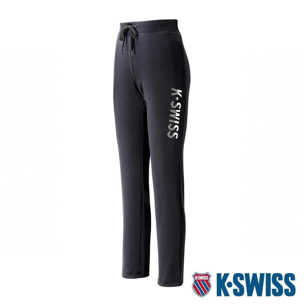 K-SWISS Straight Knit Pants運動長褲-女-黑