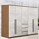 D&T 德泰傢俱 DINO清水模風格6.8尺雙吊x2+三抽衣櫃 -205x57x202cm product thumbnail 1