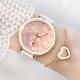 【加碼送手鍊】RELAX TIME 極光系列-半陶瓷腕錶-珊瑚粉 (RT-92-2) product thumbnail 1