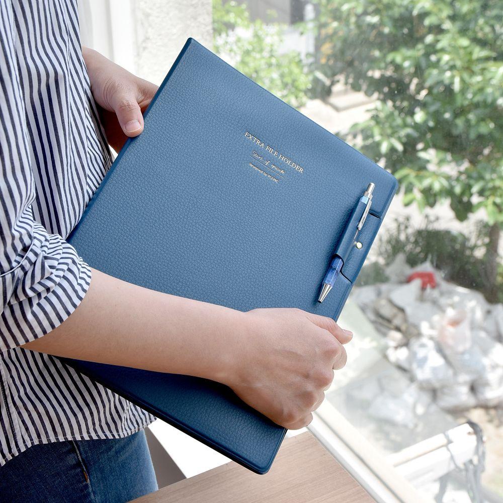 PLEPIC 職人皮革文件資料夾-海軍藍