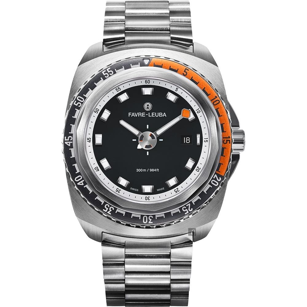 FAVRE-LEUBA 域峰 RAIDER Deep Blue 300米潛水機械錶-44mm