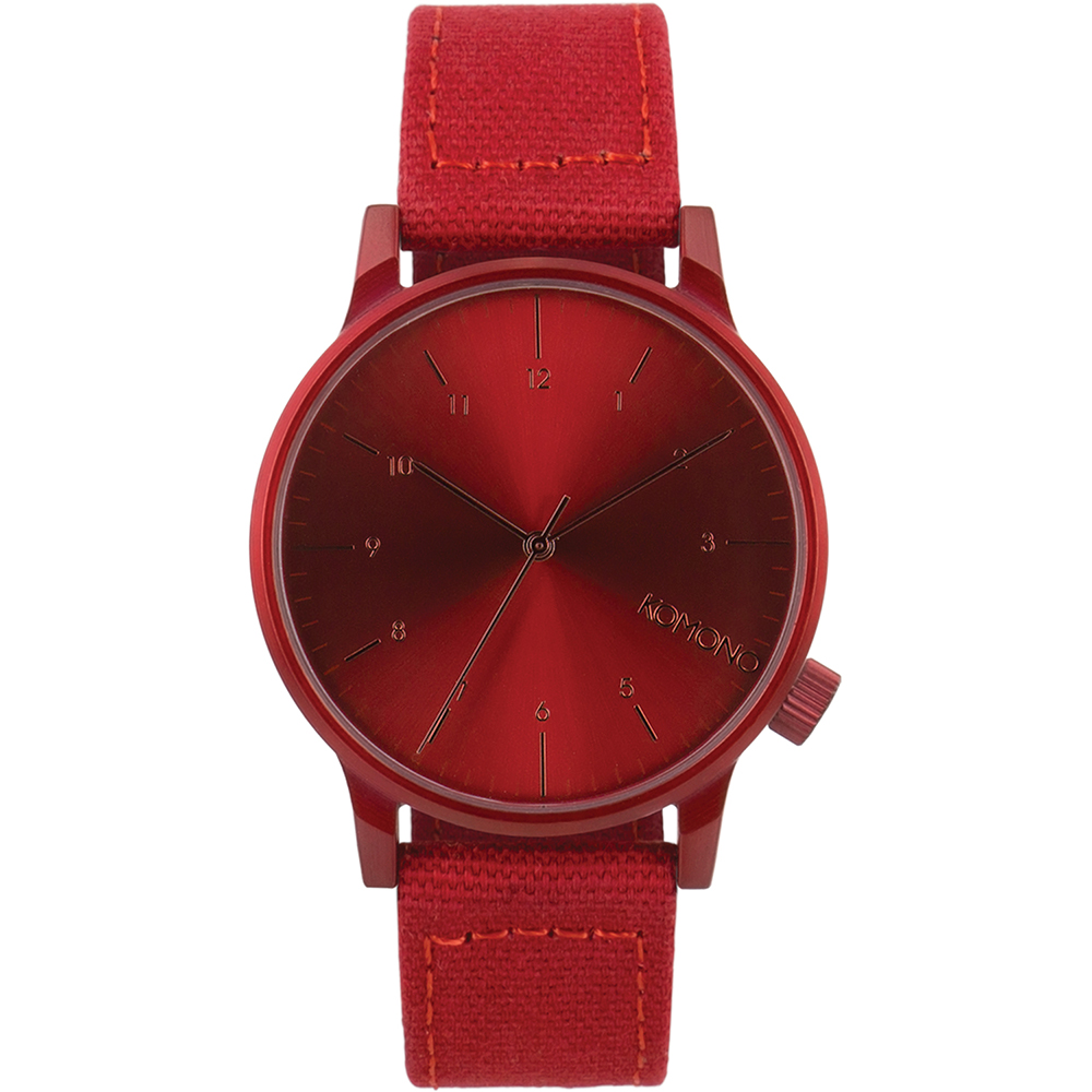 KOMONO Winston Heritage 腕錶-暘紅/41mm