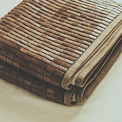 絲薇諾 涼蓆 單人 深色邊3D包邊炭化專利麻將涼蓆 竹蓆
