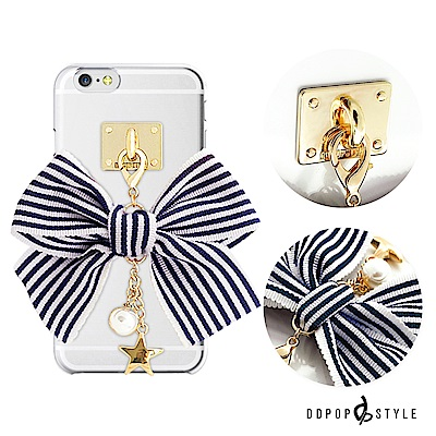 DDPOP iPhone 7 Plus 韓流明星手機殼可愛條紋蝴蝶結款 @ Y!購物