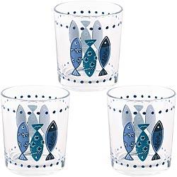 《EXCELSA》玻璃杯3入(魚220ml)