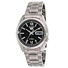 SEIKO精工  都會商務風夜光5號自動上鍊機械腕錶(SNKL55K1)-黑/37mm