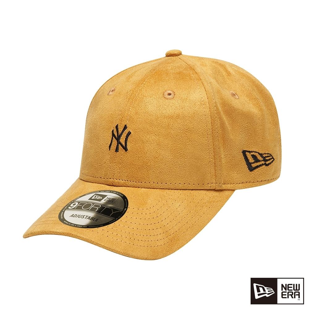 NEW ERA 9FORTY 940 類麂皮 MINI LOGO 洋基 芥末黃 棒球帽