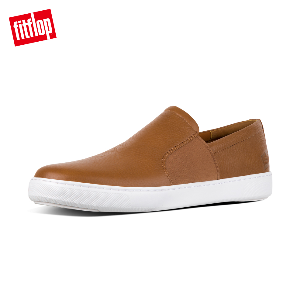 FitFlop COLLINS SLIP-ON SKATE SHOES-淺褐