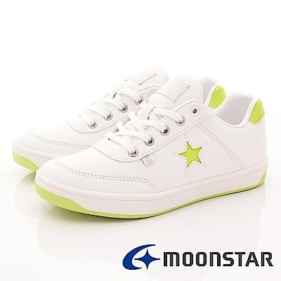 日本月星頂級童鞋 Freestar休閒鞋 0027白綠(中大童段)