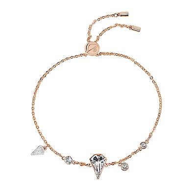 SWAROVSKI 施華洛世奇 璀璨多角水晶可調節玫瑰金手鍊手環