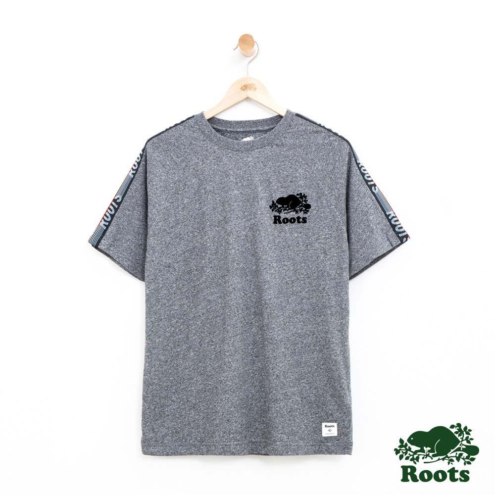 男裝-Roots 法蘭克短袖T恤-灰色