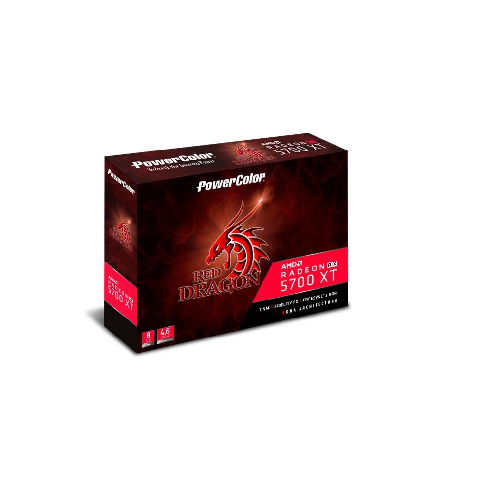 撼訊RX 5700XT Red Dragon OC 8GB GDDR6 256bit顯示卡