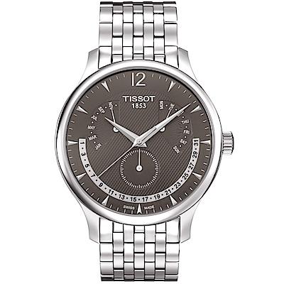 TISSOT天梭Tradition系列永恆日期腕錶(T0636371106700)